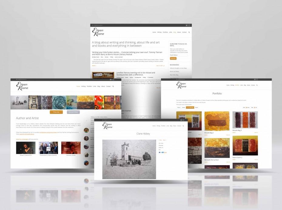 Eileen Keane homepage and portfolio for Fractalise