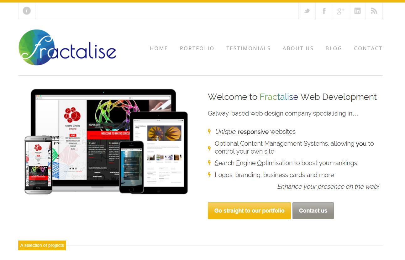 Fractalise homepage screenshot